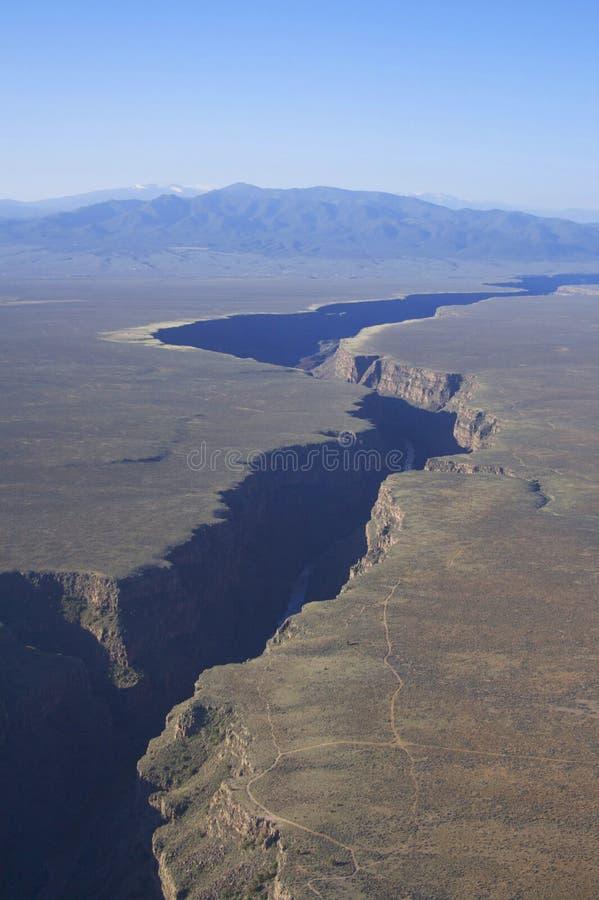 Gorge Taos Mexique de fleuve de Rio Grande photos stock