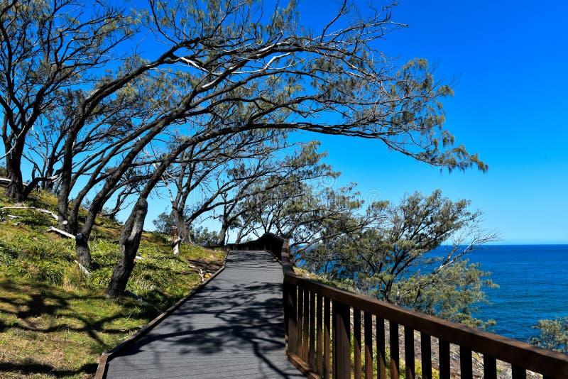 Gorge a trilha da caminhada na ilha norte de Stradbroke, Austrália imagem de stock royalty free
