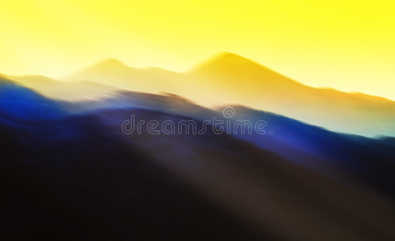 Gorgeous abstract sunset. Photoshop drawing stock photo