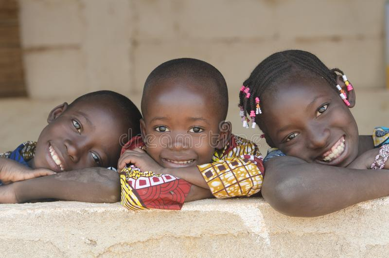 Gorgeous African Black Children Portrait Smiling and Laughing. royalty free stock photos
