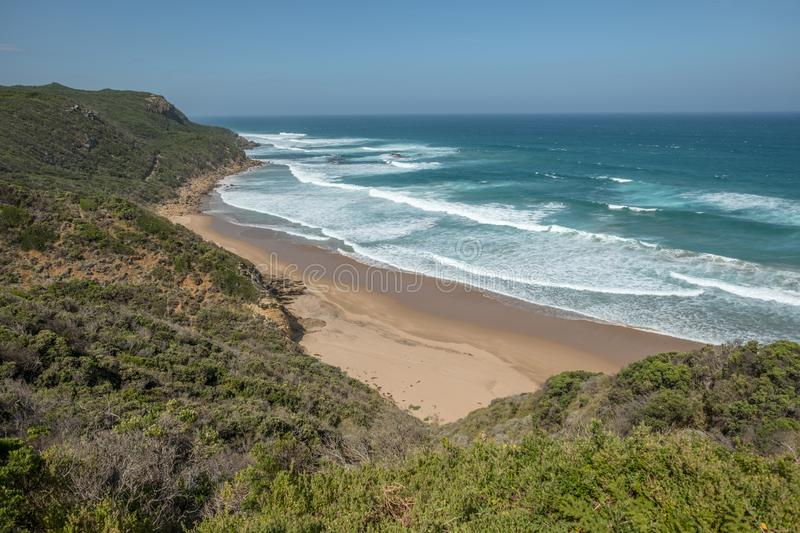 Gorgeous beach and breaking waves - Great Ocean Road, Victoria, Australia stock photography