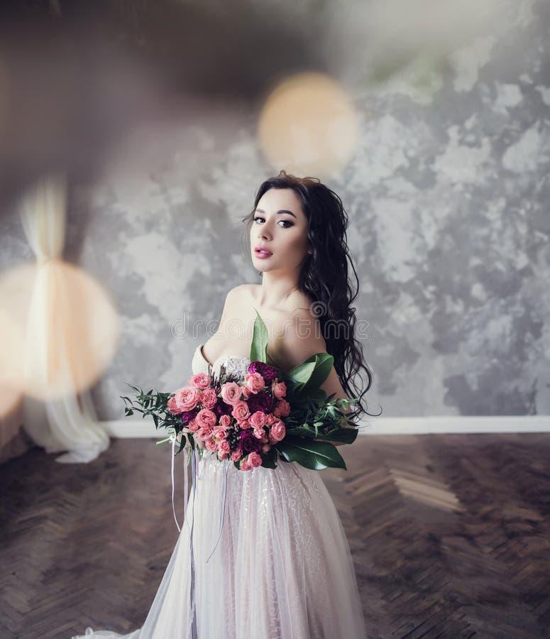 Gorgeous beauty bride stock photos