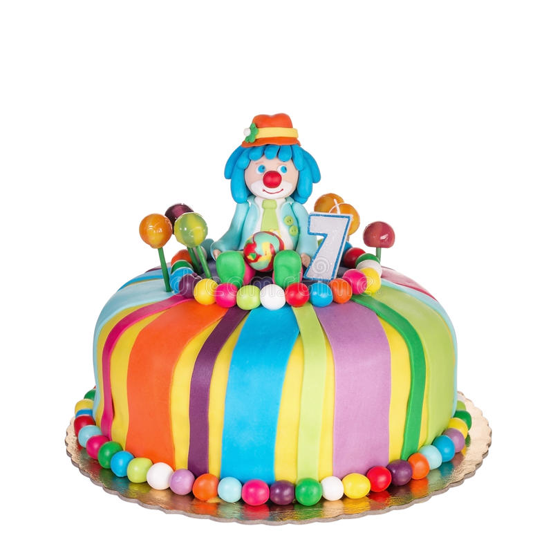 Gorgeous Birthday Cake For Children Stock Photo Image 52700426