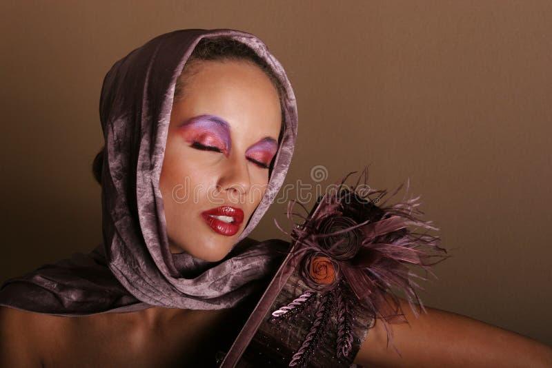 Gorgeous black woman stock image