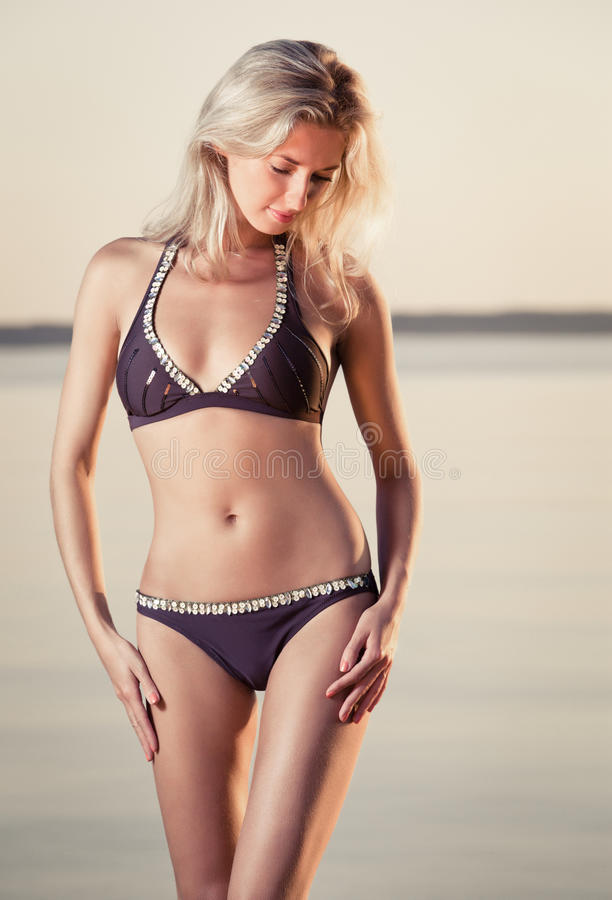 Gorgeous Blonde On The Beach Stock Photography