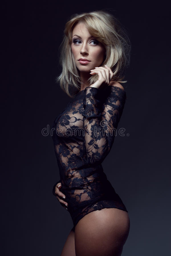 Download Gorgeous Blonde In Lace Lingerie Stock Image - Image: 21567715