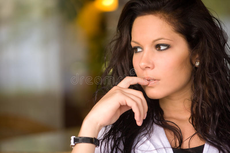 Download Gorgeous brunette. stock photo. Image of cool, brunette - 19468738