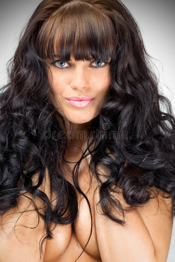 Gorgeous brunette royalty free stock photos