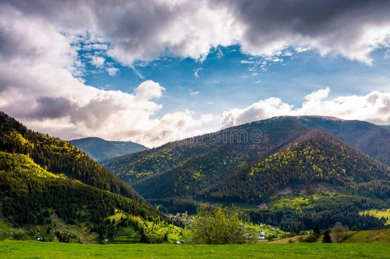 Gorgeous Carpathian weather in springtime. stock image