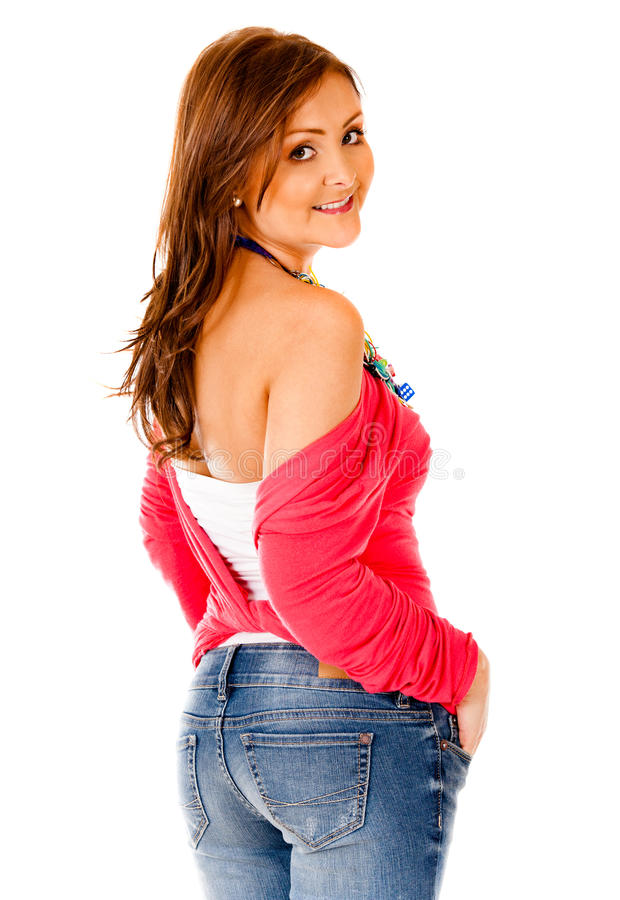 Download Gorgeous casual woman stock photo. Image of female, posing - 21669518