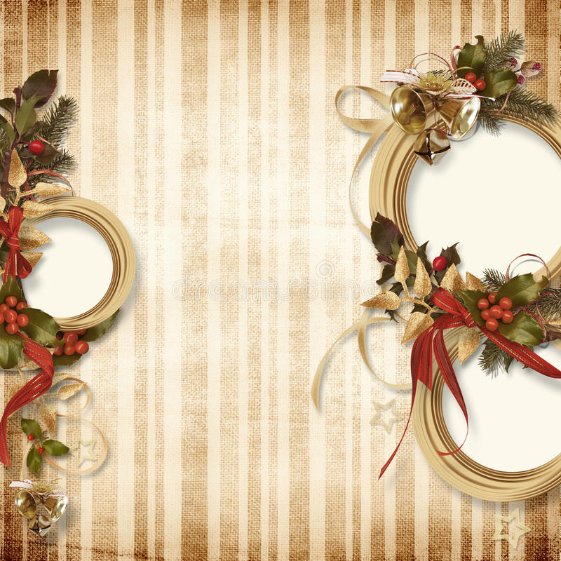 Gorgeous Christmas frame stock illustration
