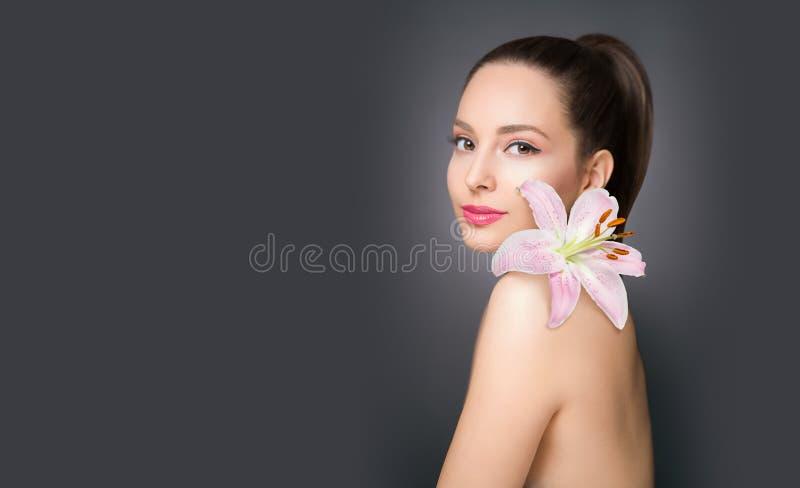 Gorgeous cosmetics brunette stock photos