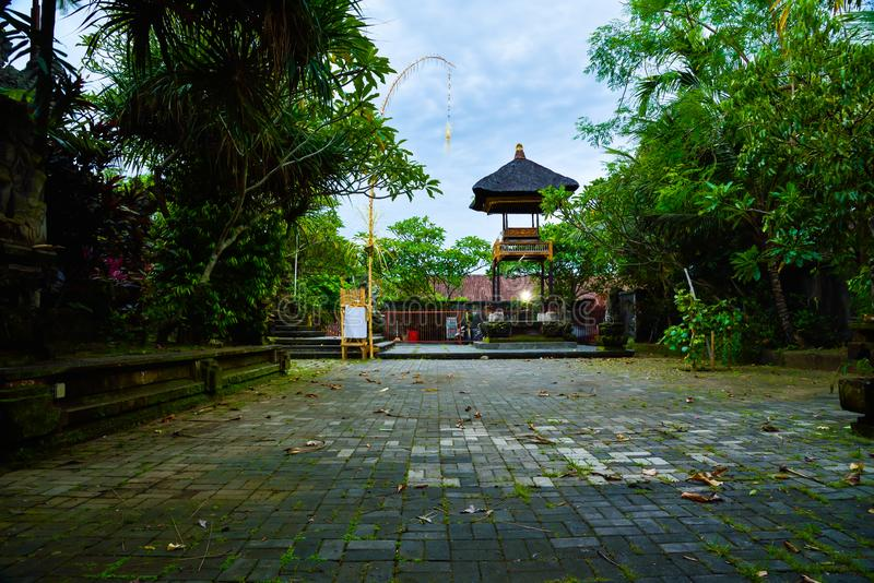 Traditional old family house in Ubud Bali Indonesia royalty free stock images