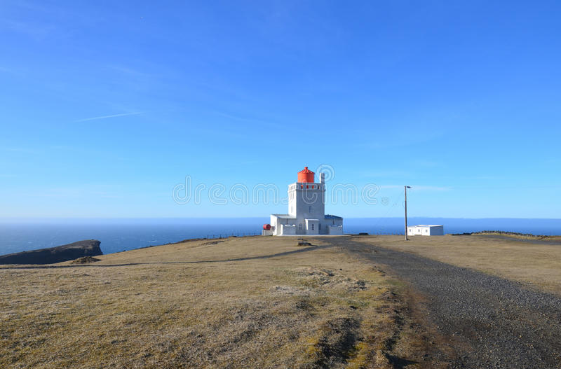 A Gorgeous Day at Dyrholaey Lighthouse in Iceland. A lovely day at Dyrholaey Lighthouse in Vik Iceland stock photos