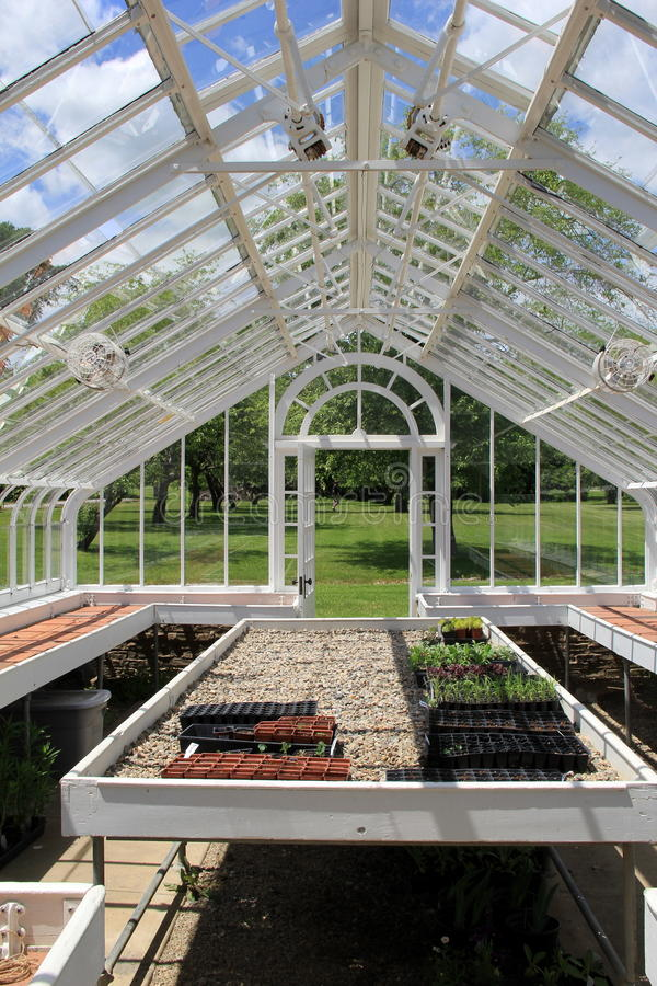 Gorgeous design of greenhouse stock photography