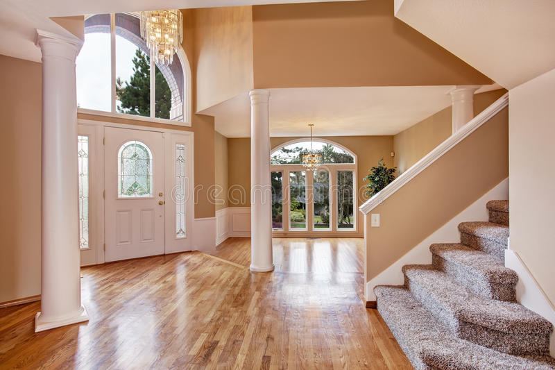 Gorgeous foyer in luxury house stock images