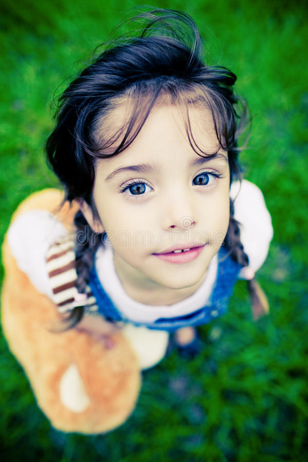 Download Gorgeous Girl With Huge Eyes Looking Into Camera Stock Image - Image: 13791807