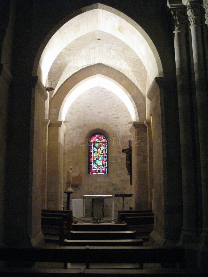 A gorgeous lit archway inside the Sacré-Cœur, Paris stock image