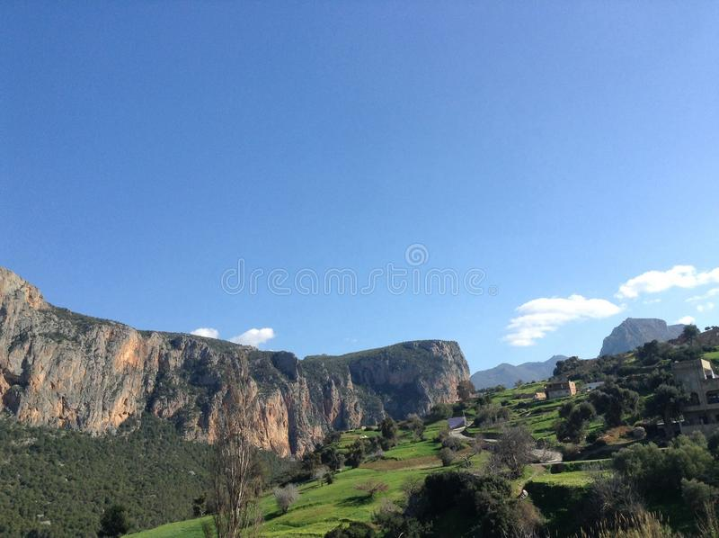 Gorgeous mountain view in Africa. African damn amazing mountain view royalty free stock photo
