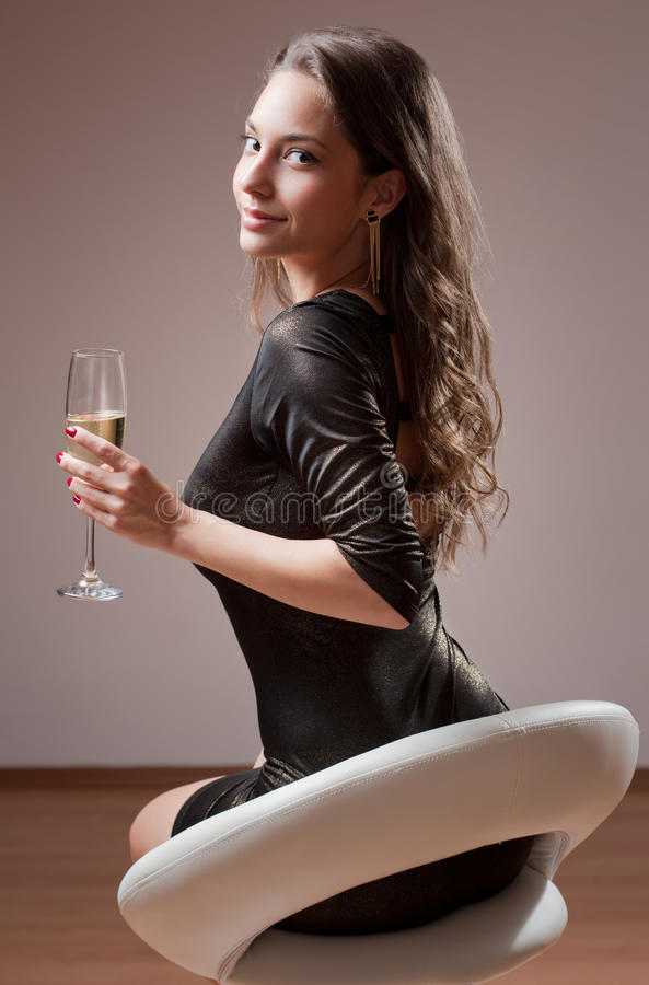 Gorgeous party girl. royalty free stock photography