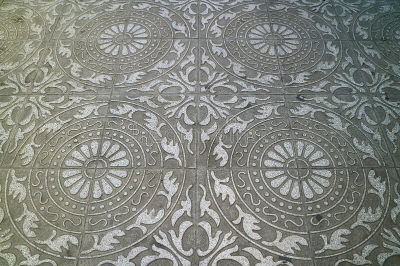 Gorgeous pattern paving stone of the sidewalk in town for background. Or banner royalty free stock image