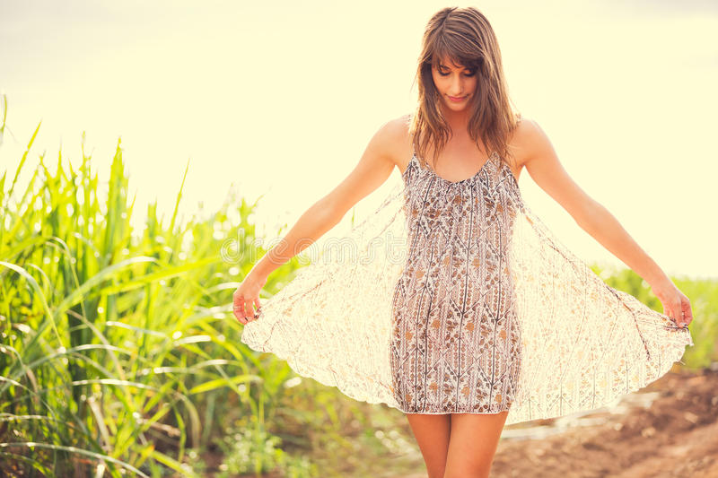 Download Gorgeous Romantic Girl Outdoors. Summer Lifestyle Stock Image - Image: 38307059