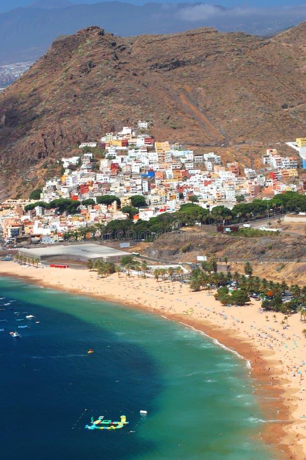 Gorgeous San Andres village and Teresitas beach on Tenerife. Island, Spain stock images