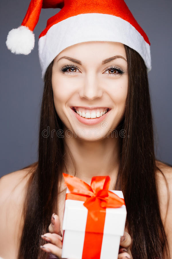 Download Gorgeous santa girl stock photo. Image of healthy, holiday - 35905256