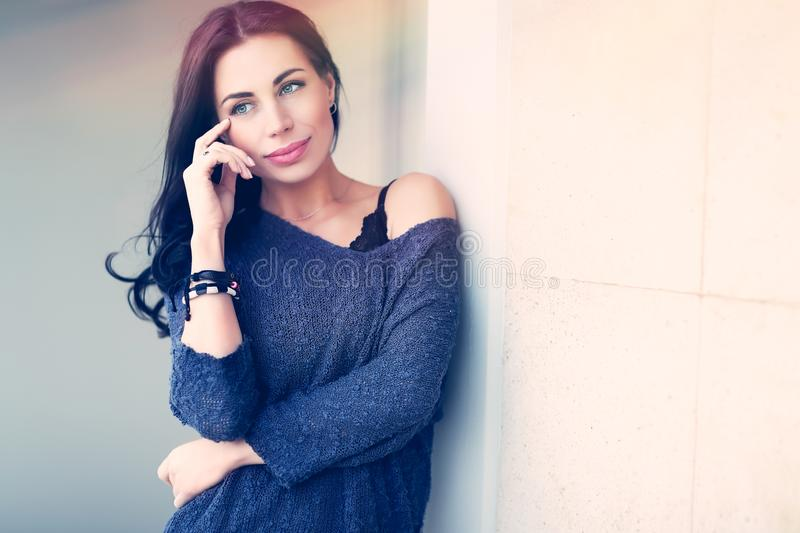 Gorgeous serious female royalty free stock images