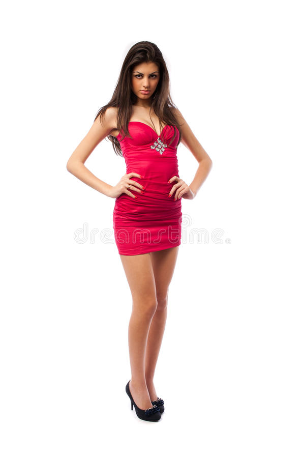 Download Gorgeous Lady In Red Dress, Stock Photo - Image: 17625790