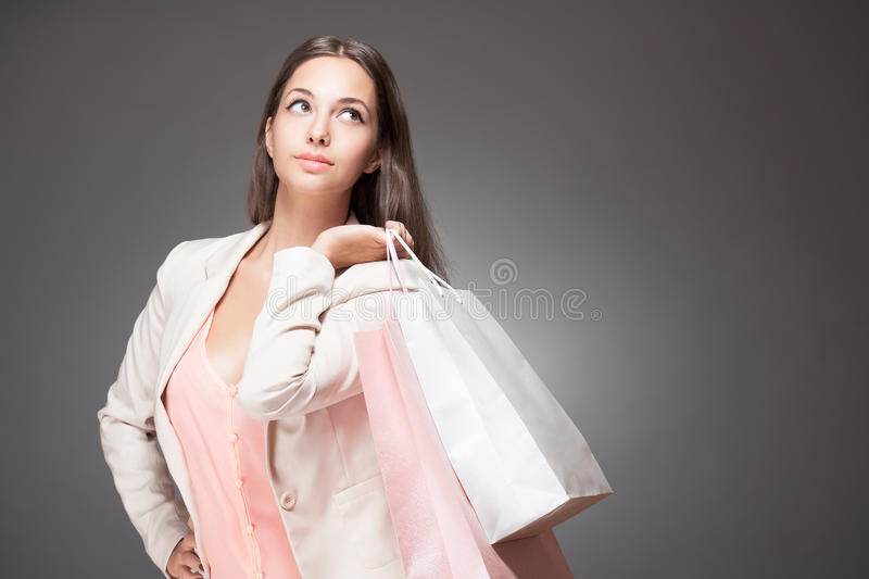Download Gorgeous shopper. stock image. Image of asian, bags, purchase - 34484109