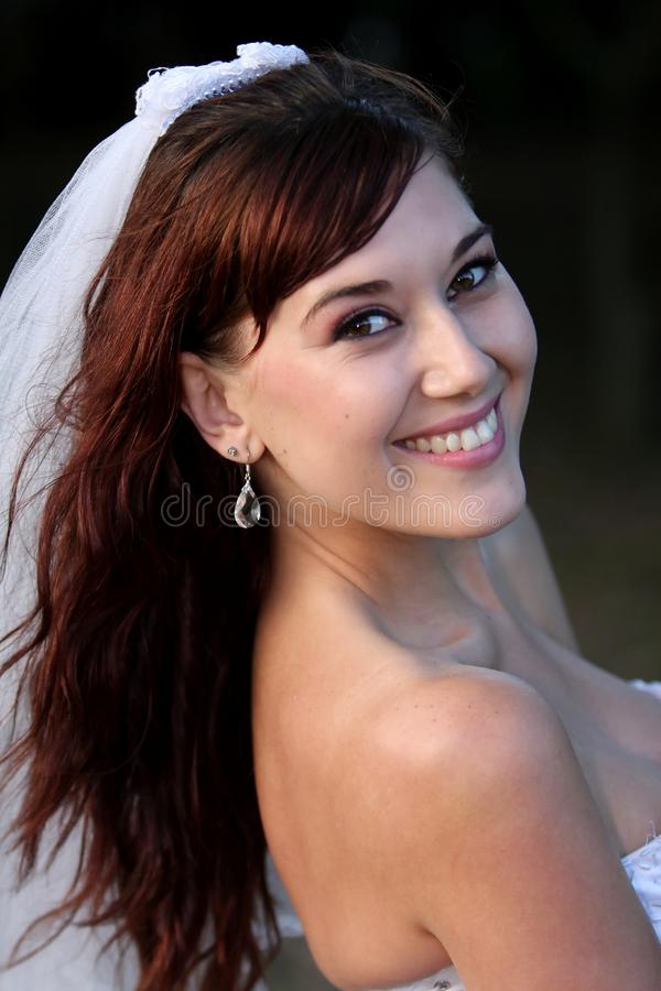 Download Gorgeous Smiling Bride stock photo. Image of brunette - 12021158