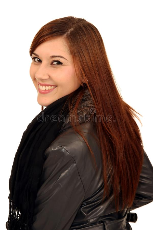 Download Gorgeous Smiling Brunette Woman Stock Photo - Image: 14853148
