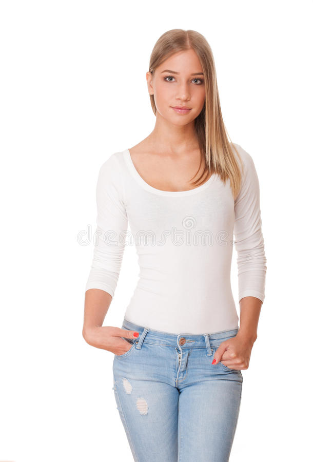 Gorgeous student girl. stock photography