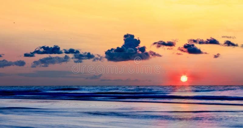 Sunrise at the Beach royalty free stock images