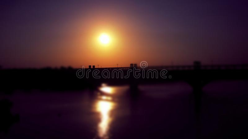 Gorgeous sunset stock images
