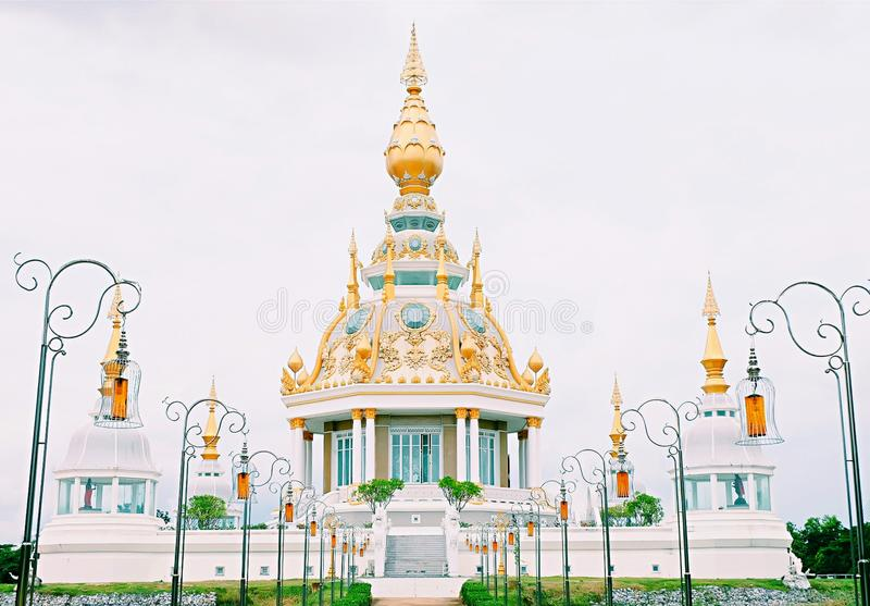 The gorgeous temple at Khon Kaen,Thailand. The temple name`s Wat Toong Set Tee temple.Beautiful place in Khon Kaen,Thailand stock image