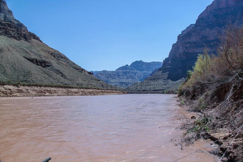 Gorgeous view on Colorado river and  Cliff of Grand Canyon, Arizona.Beautiful nature landscape backgrounds stock images