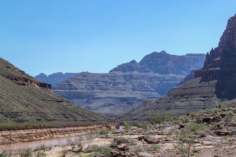 Gorgeous view on Colorado river, Grand Canyon, Arizona . Beautiful nature landscape backgrounds stock image