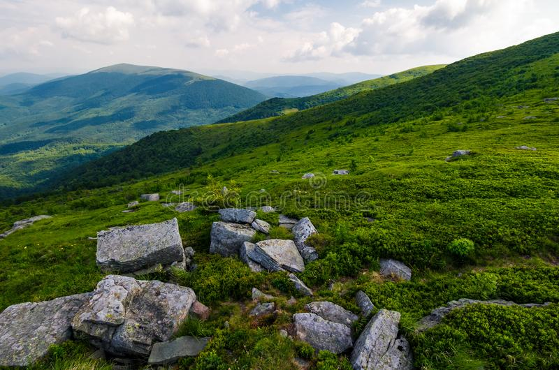 Gorgeous view from the Runa mountain royalty free stock photo