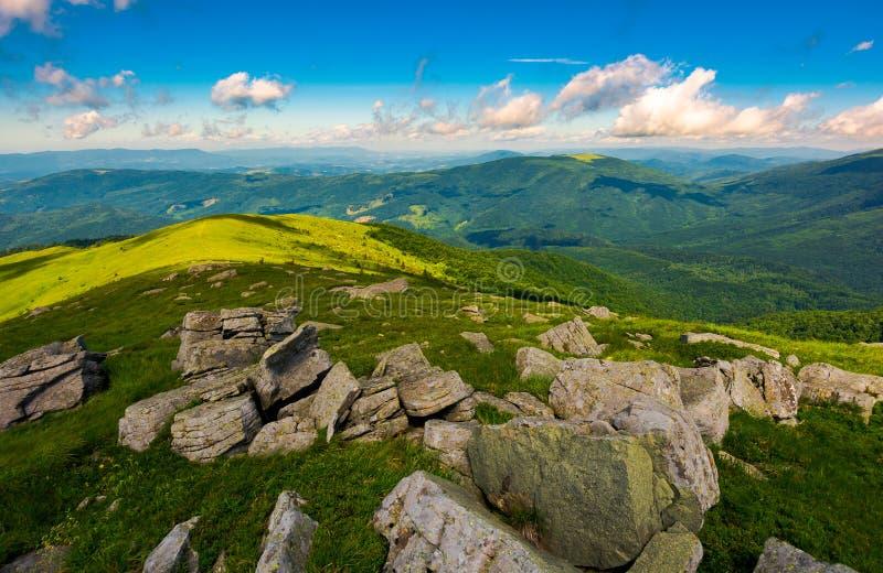 Gorgeous view from the Runa mountain stock photo