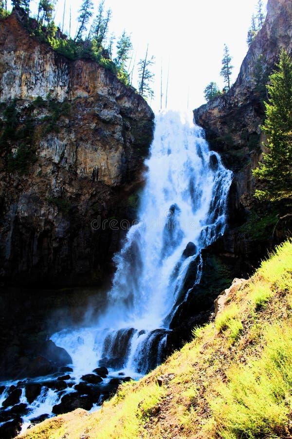 Osprey Falls in Yellowstone National Park Beautiful waterfall stock photos
