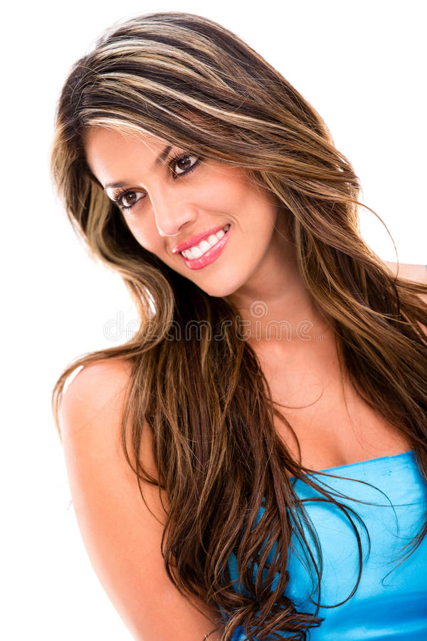 Download Gorgeous woman in blue stock photo. Image of adult, pretty - 29113492