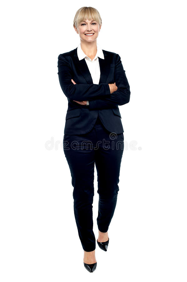 Download Gorgeous Woman In Business Suit Walking Towards You Royalty Free Stock Image - Image: 28251236