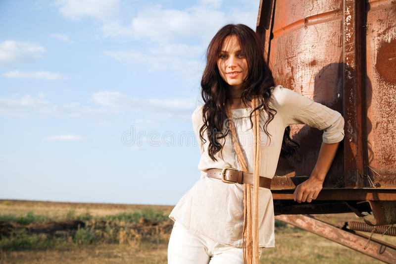 Download Gorgeous Woman In Countryside Stock Image - Image: 25572961