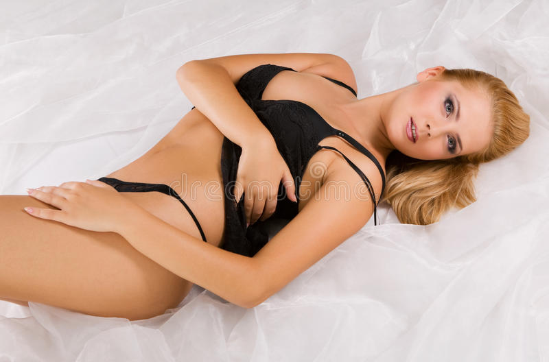 Download Gorgeous Woman Wearing Erotic Black Lingerie Stock Image - Image: 11199149