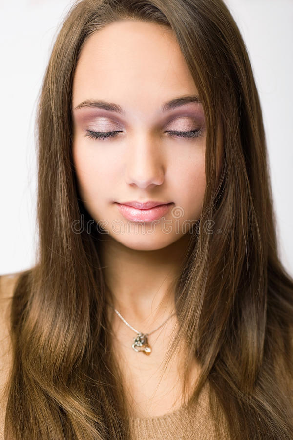 Download Gorgeous Young Brunette In Makeup. Stock Photo - Image: 22239782