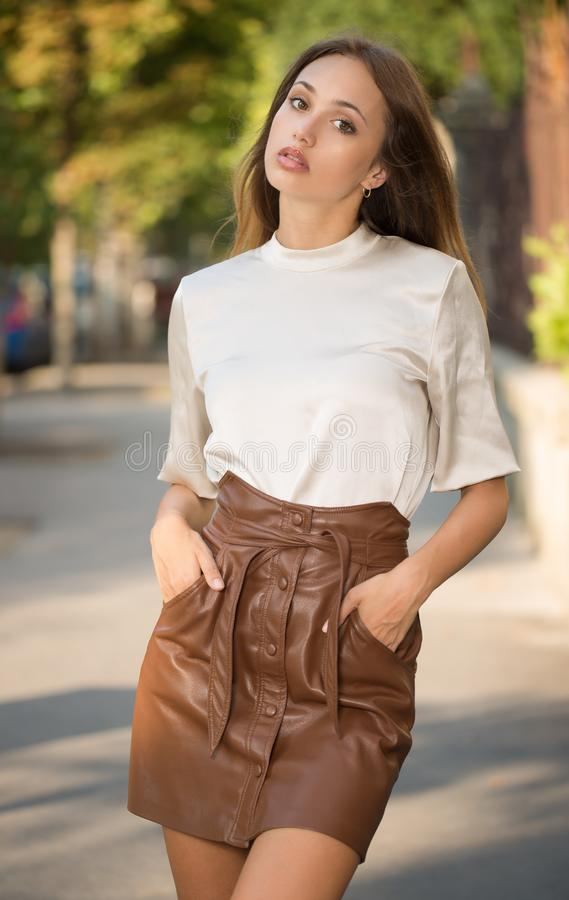 Young brunette model royalty free stock photos