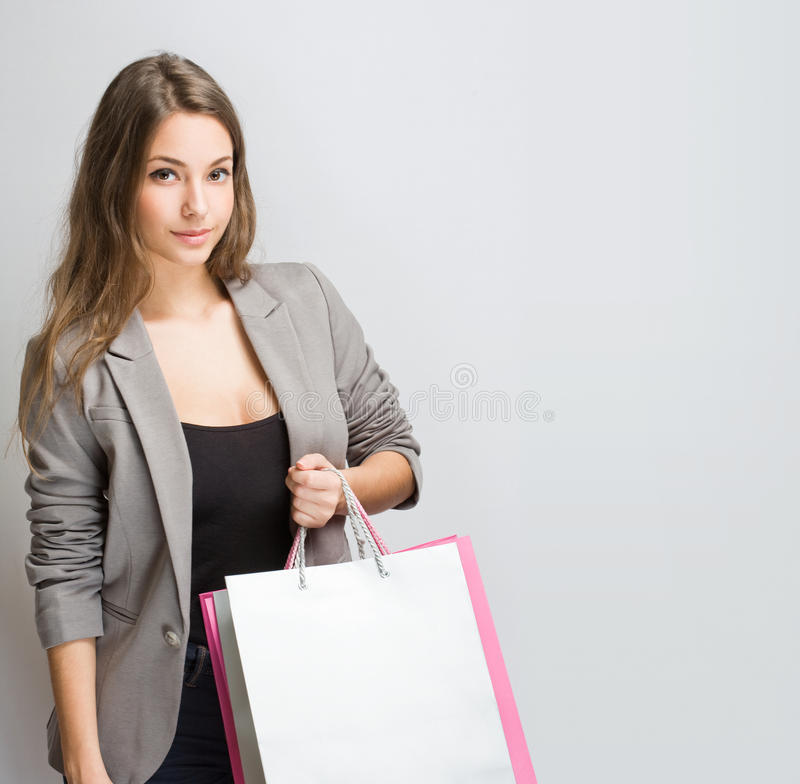 Download Gorgeous Young Brunette Shopper. Stock Image - Image: 29015687