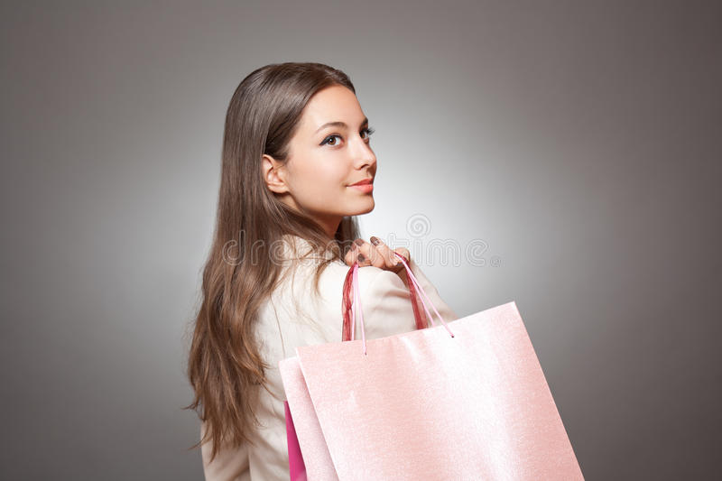 Download Gorgeous Young Brunette Shopper. Stock Photo - Image: 33653420